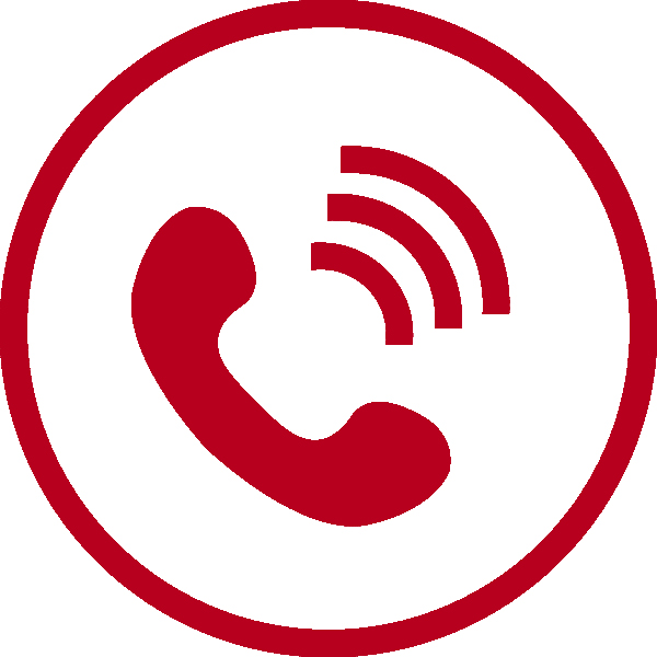 Red telephone in a red circle with red sound waves with a link to One Stop Plumbing's telephone number
